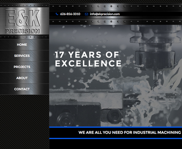 EK Precision Website Cover
