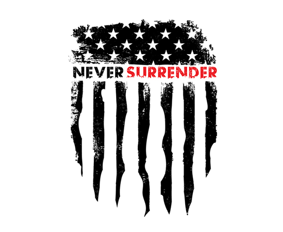 Never Surrender Fitness Logo Idenitity