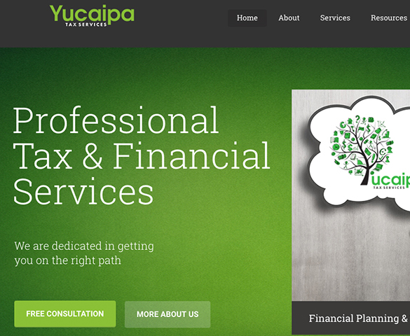 Yucaipa Tax Website Design